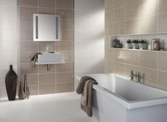 dark grey large tile kitchen splashback - Google Search