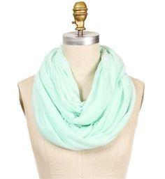 Mint Knit Infinity Basic Scarf