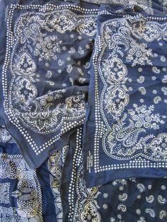 love blue bandana s Bleu Indigo aa3e16da29e