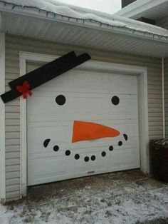 Snowman Garage Door.