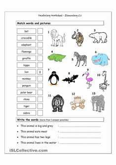 Land Animal Worksheet Pack | Animal worksheets, English worksheets for kids, Missing letter worksheets. May 14, 2019 - The Preschool and Kindergarten Animal ... Matching Worksheets, Animal Worksheets, Vocabulary Worksheets, Animal Activities, Preschool Worksheets, English Vocabulary, Printable Worksheets, Activities For Kids, Letter Worksheets