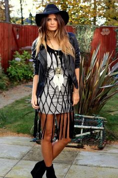 Boho rock chic style. Edgy threads for fall.