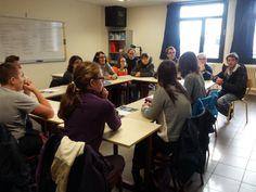 Les comédiens de l'atelier Catalyse - Théâtre de l'Entresort rencontre la Classe ULIS du Lycée Notre Dame du Mur dans le cadre de leur porjet Karta avec le Théâtre.