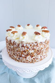 This ITALIAN CREAM CAKE is buttery, fluffy, and moist with a slight nutty flavor. IThis southern classic dessert is perfect for any special occasion! Yummy Cookies, Yummy Treats, Easy Cake Recipes, Dessert Recipes, Italian Cream Cakes, Southern Desserts, Walnut Cake, Classic Desserts, Cake Decorating Techniques