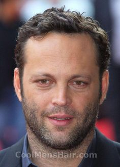 Vince Vaughn curly hairstyle.