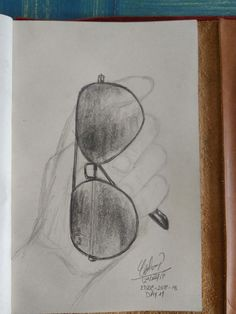 EveryDay Drawing Challenge in less than 30min. Day 11. 29-DIC-2017 Sunglasses