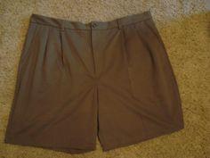 Men's IZOD pleated dress shorts size 42 Taupe #IZOD #DressShorts