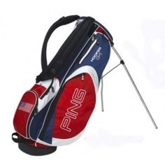 Ping Hoofer C1 Golf Stand Bag White Red Navy Misc