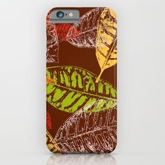 #autumn #fall #leaves #leaf #orange #yellow #green #brown #phonecase in different #homedecor products too. Check more at society6.com/julianarw