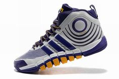 NBA Dwight Howard Men Basketball Sneaker with White Purple and Yellow
