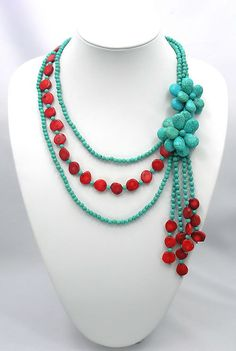 bridesmaid giftturquoise necklaceBeaded by Turquoiseworld2012