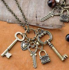 I carry keys lots of them www.deviskeys.com Charming Necklace