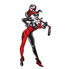 DC Comics HARLEY QUINN Standing Figure 4 34 Tall Embroidered PATCH -- Check this awesome product by going to the link at the image.