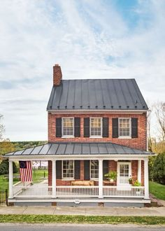 """This is What Happens When a Small-Town Farmhouse from the 1800s Gets Restored:  The process revealed the house's 19th-century bones, and Sarah's inner mettle. """"I was ready on a deeper level for this kind of challenge,"""" she says."""