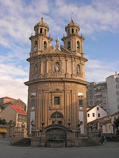Basilica de la Peregrina, Pontevedra, Galicia, Spain.