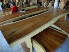 LUMBER SLAB Wooden Slab Table, Wood Slab, Living Room Bench, Dining Room Walls, White Sofa Table, Natural Wood Furniture, Home Office Chairs, Cool House Designs, Furniture Making