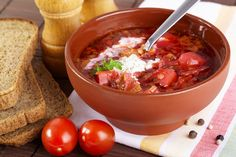 Ukrainian recipes - for a tasty life Ukrainian Recipes, Russian Recipes, Borscht, One Pot Meals, Yummy Drinks, Soups And Stews, Vegetable Recipes, Seafood, Stuffed Mushrooms