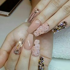 Time to beautify your nails with creative Designs. Nail Art Designs are in vogue. Find the rarest and unique ideas to adorn glam nails with Nail. Fabulous Nails, Perfect Nails, Gorgeous Nails, Pretty Nails, 3d Nail Designs, Colorful Nail Designs, Acrylic Nail Designs, 3d Nail Art, 3d Nails