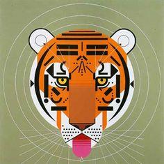 Charley Harper. tiger