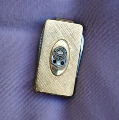 Gold Plated Diamond and Sapphire Money Clip by HighClassHighway