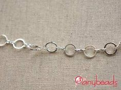 Silver Color Round Dash Link Chain Finished Necklace 20 to 24 inch #chain #necklace #jewelrysupplies #anybeads