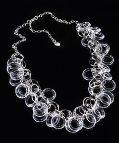 R.J. Graziano Clear Lucite Circle Link Necklace