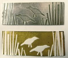 Jane Cather shares her techniques for roll printing metal - great tutorials generously shared on her blog