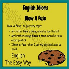 My _______ got angry and blew his fuse. 1. husband 2. father 3. both  #EnglishIdiom