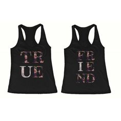 BFF Tank Tops True Friend Floral Print Matching Shirts for Best... ($31) ❤ liked on Polyvore featuring tops, shirts, floral print tank top, shirt tank, flower print shirt, floral tank and floral tank top