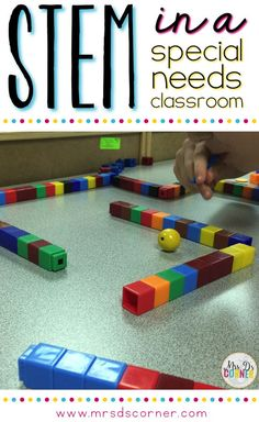Don't think your special ed kids can benefit from STEM activities? Read this post to see how this teacher successfully implemented this strategy in her special ed room. Go to : http://www.mrsdscorner.com/2016/04/STEMforspecialneeds.html