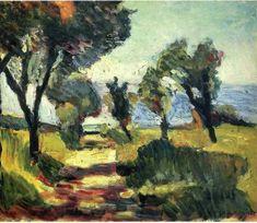 Olive Trees, 1898, Henri Matisse Size: 38x46 cm Medium: oil on canvas