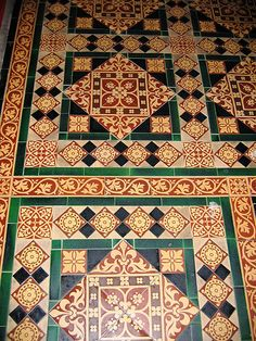 These Minton Tiles Are In St John The Baptist Church Winster Derbyshire