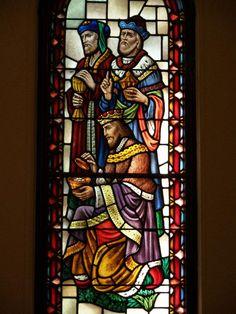 Description: Buffalo, New York (NY): Episcopal Church of the Good Shepherd: Nativity: three kings (Willet Studios)