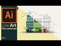 Creating a Line art city landscape in Adobe Illustrator - YouTube