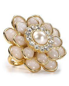 kate spade new york Sweet Zinnia Bridal Crystal Ring