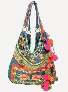 Bolso Kosiuko --- Where to buy it? Hippie Bags, Boho Bags, Ethnic Bag, Estilo Hippie, Boho Accessories, Embroidered Bag, Fabric Bags, Handmade Bags, Beautiful Bags