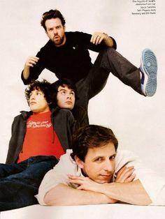 Jason Sudeikis, Bill Hader, Andy Samberg, and Seth Meyers :) Love the SNL boys.