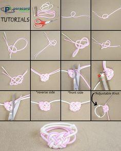 Celtic Heart #Paracord Bracelet. Try it yourself! (heart design via JD of TIAT)