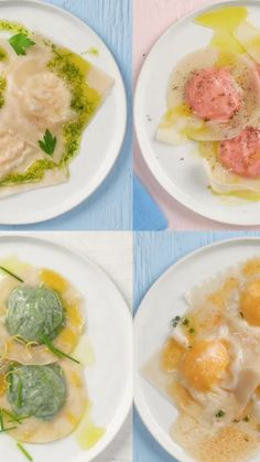 Recipe with video instructions: Your wonton wrappers have been waiting for these savory fillings to turn them into ravioli.