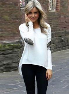 0f2138b9fdc New Spring Autumn Women Shirt Glitter Irregular Stitching Long-sleeve Round Neck  Tops Ladies Plus Size Tops