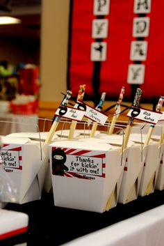 Favors from a Ninja Party #ninja #partyfavors