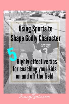 I love the potential found in sports to grow our kids both physically and emotionally. I firmly believe we can use sports to shape godly character in our kids. Here are 5 great tips for coaching our kids both on and off the field...