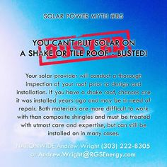 87 Solar Myths - Contact Andrew Wright (303) 222-8305 or Andrew.Wright@RGSEnergy.com #87solarmyths #solarmyths #solarwright #solar #renewableenergy #busted #confirmed #solarporn #solarpanel #rgsenergy #mythbusters