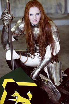 #Lady #Knight #redhead #armor #warriorprincess