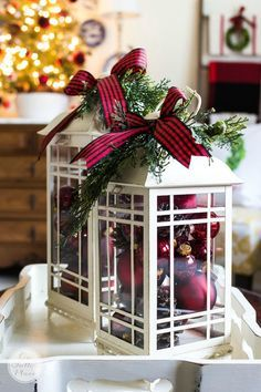 Christmas Decor Ideas   Home Tour   Simple and budget-friendly ways to decorate for Christmas. Inspiration for porches, entries and living spaces.