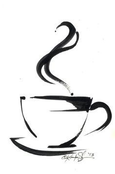 ARTFINDER: Brushstroke Coffee Cup No.5 by Kathy  Morton Stanion
