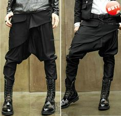NWT Men Women Unisex Korean Style Casual Hip Hop Dance Low Drop Crotch Harem Baggy Tapered Skinny Pants Slacks Trousers $32.99