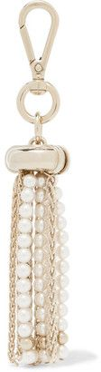 Shop Now - >  https://api.shopstyle.com/action/apiVisitRetailer?id=656028333&pid=uid6996-25233114-59 Lanvin - Tasseled Gold-tone And Faux Pearl Keychain  ...