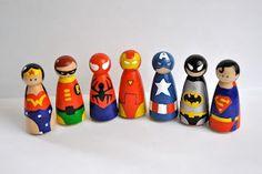 superhero peg people | Grandpins
