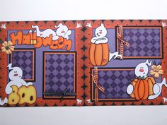 Halloween Scrapbook Page Layout. I love the ghosts! Disney Scrapbook Pages, Scrapbook Sketches, Scrapbook Page Layouts, Baby Scrapbook, Scrapbook Cards, Scrapbooking Ideas, Scrapbook Albums, Halloween Scrapbook, Halloween Cards